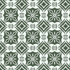 Green and White Checkerboard