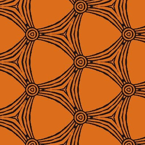Geometric in Orange and Black