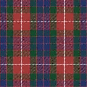 Fraser red tartan, greyed
