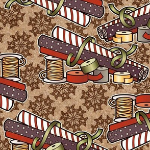 wrapping paper, vintage colors