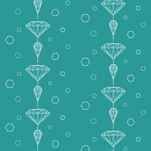 Diamond_lines_white on turqois