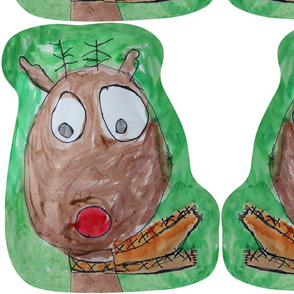 Nathan's Reindeer Pillow