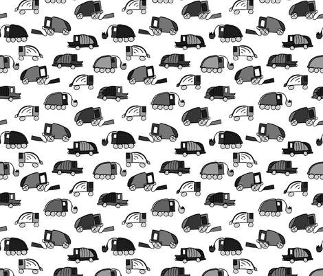 LaraGeorgine_Garbage_Trucks_Black_and_White