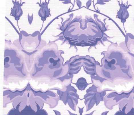 Purple Flower Toile