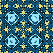 Blue and Yellow Diamond Pattern