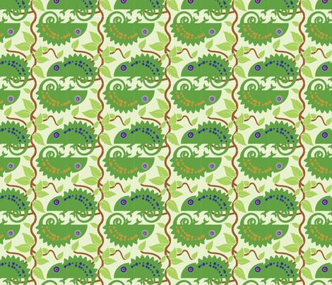 Iguanas on Vines