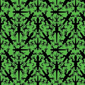 LizardGecko Tropical Silhouette Sym