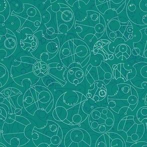 Circular Gallifreyan Tourquoise