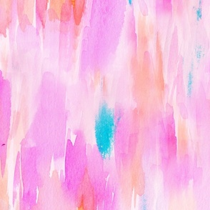 Hot Pink Watercolor Ikat