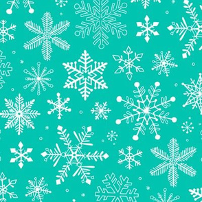 Snowflakes Christmas Mint