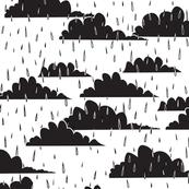 rain clouds (black & white)