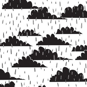 rain clouds (black & white)