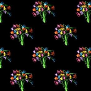 Black Flowers 1