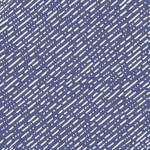 Dot Dot Dash Linear Diagonal Repeat - Navy Blue