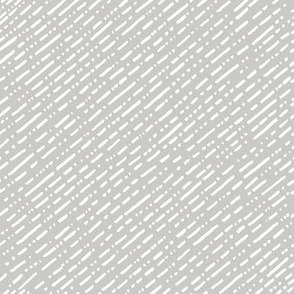 Dot Dot Dash Linear Diagonal Repeat - Warm Grey