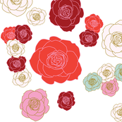 roses floral pattern (reds)