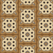 Floral Blocks in Browns and Tan