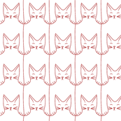 cat pattern (red)