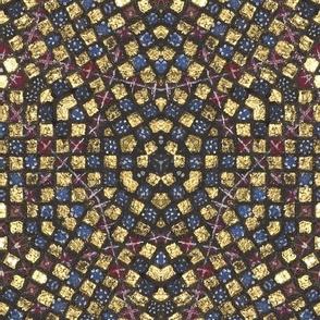 Medieval Kaleidoscope 2 - Golden Squares