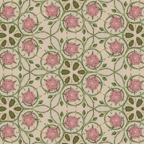 Medieval Kaleidoscope 3 - Pink Roses