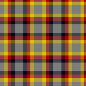 Ikelman tartan 2 - yellow, red, black, grey