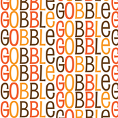 Gobble Gobble Gobble Funny Thanksgiving Turkey Pattern