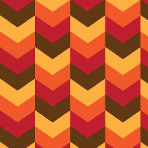 Fall Autumn Thanksgiving Chevron Colors