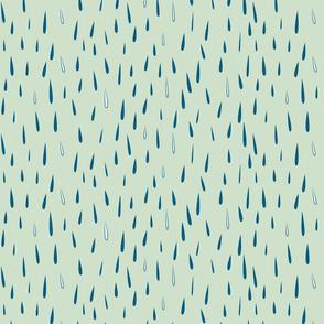 rain rain (celedon and blue)