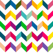 Chevron Mulit Color