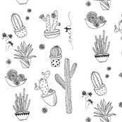 Cactus B&W Fabric