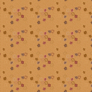 Yorkie Autumn Leaves Falling Matching Fabric