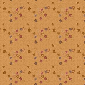 Yorkie Autumn Leaves Falling Matching Fabric