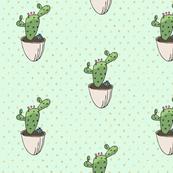 Modern Mint Cactus