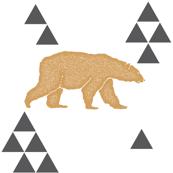 Geometric Bear in Gold