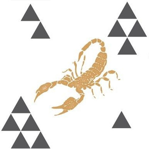 Geometric Scorpion in Gold