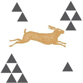 Geometric Hare in Gold
