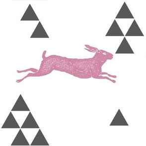 Geometric Hare in Pink