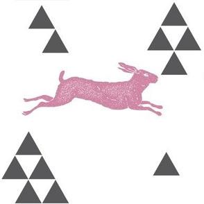Geometric Hare in Pink