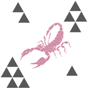 Geometric Scorpion in Pink