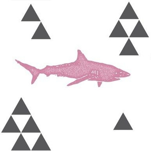 Geometric Shark in Pink