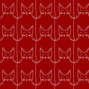 kitties (red background)