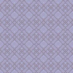 024 Quatrefoil - purple velvet