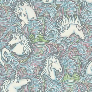 Drowning Unicorns in opal tones