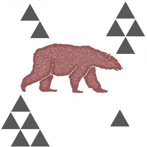 Geometric Bear in Wine