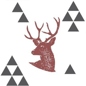 Geometric Deer in Wine