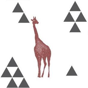 Geometric Giraffe in Wine
