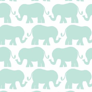 elephant light teal