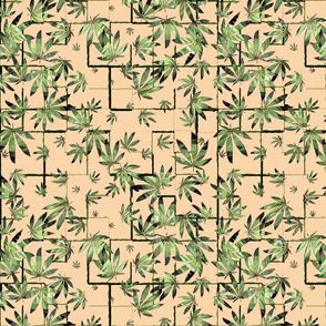 Striped Marijuana Leaf