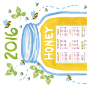2016 Honey Calendar (for Linen Cotton Canvas Fabric)