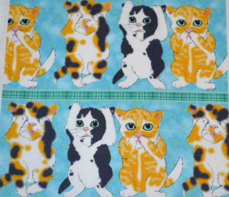 Three Good Little Kittens, Aqua- half brick